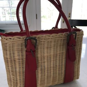 Cynthia Rowley Wicker Handbag